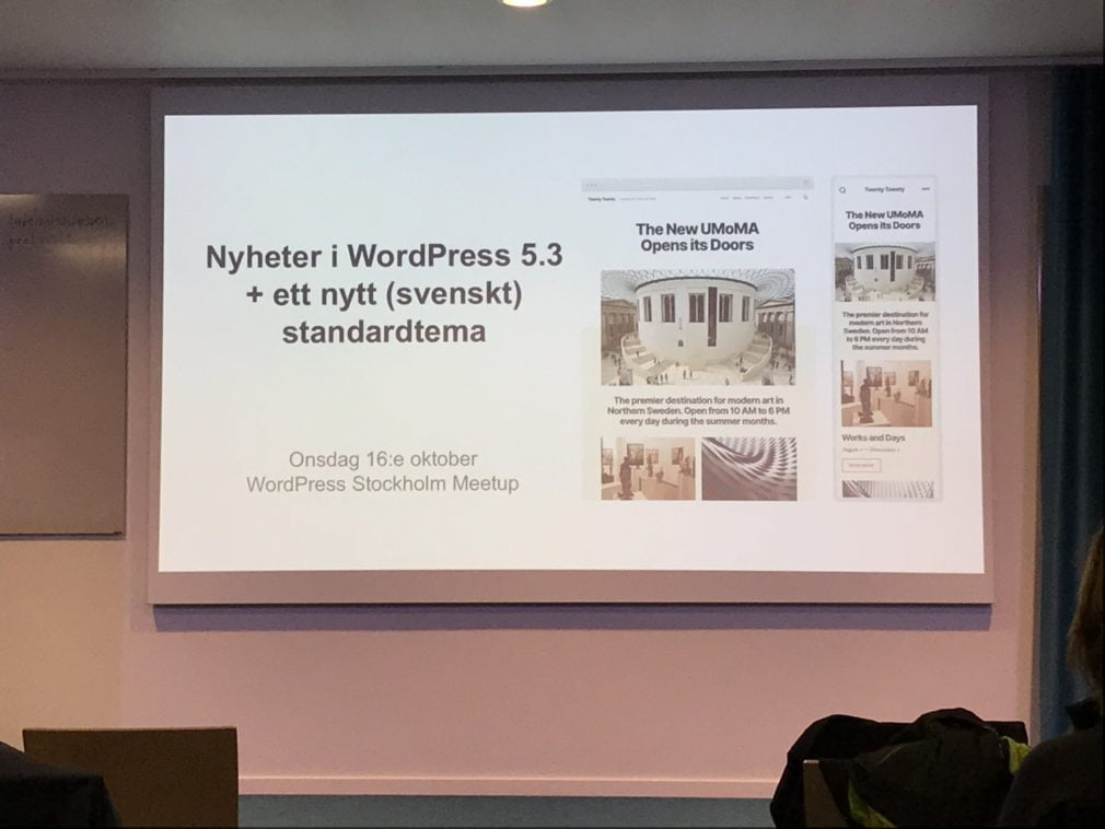 nyheter i wordpress 5.3